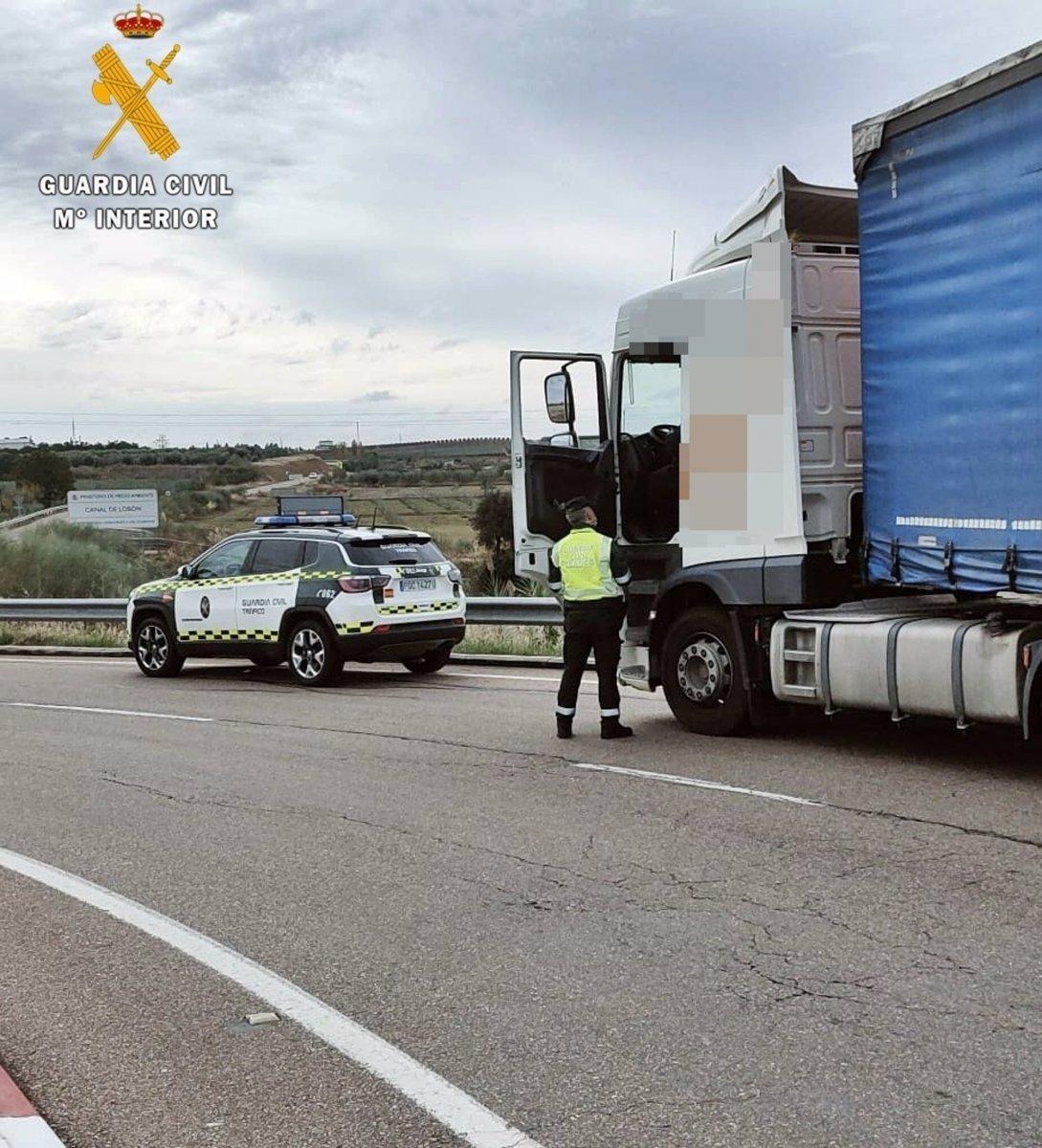 Interceptado un camionero que multiplicaba por seis la tasa de alcohol permitida