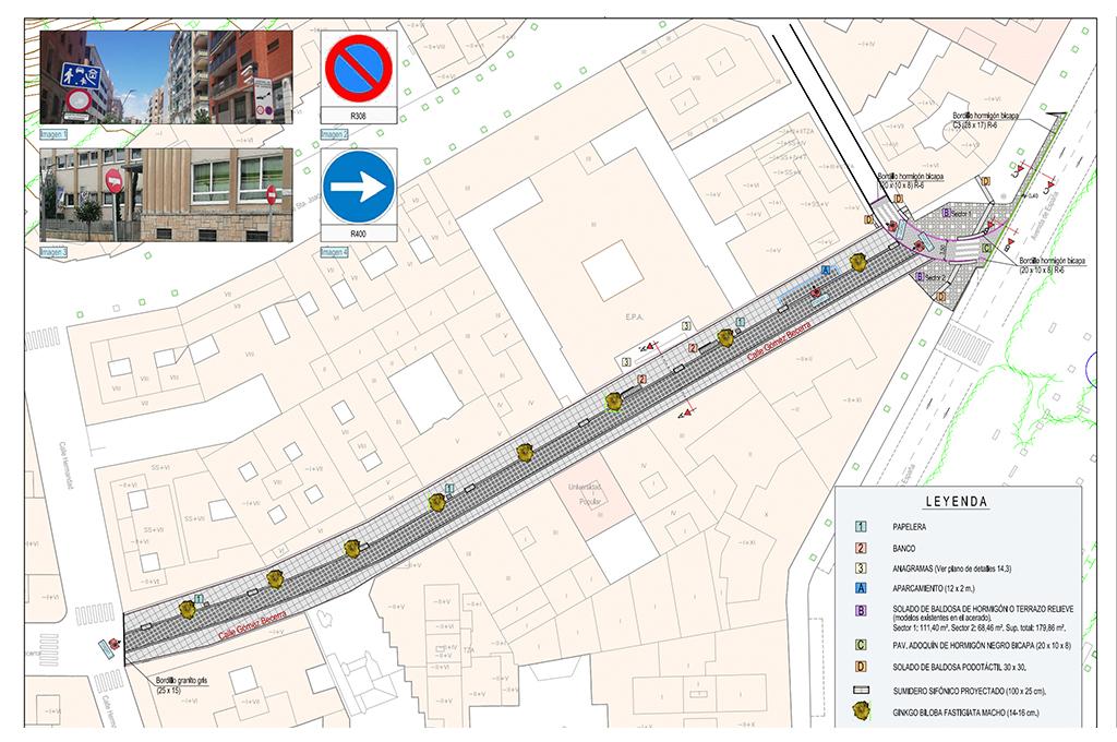 Diputación licita las obras para peatonalizar la calle Gómez Becerra de Cáceres