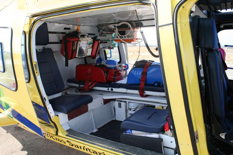 Evacuado en helicóptero al Hospital de Llerena tras caerse de un caballo