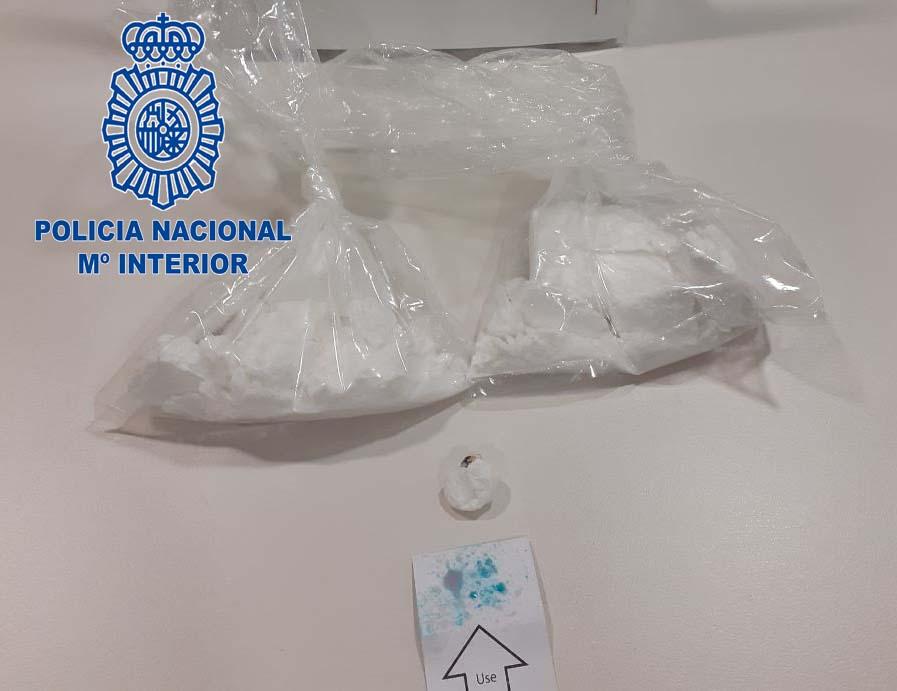 """Detenidas tres personas de Cáceres y Plasencia en un """"pase"""" de 200 gramos de cocaína"""