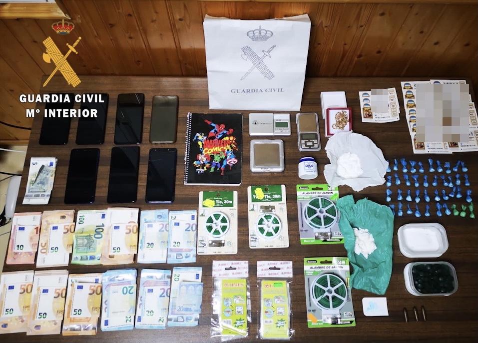 Ingresan en prisión cuatro personas tras desmantelar en Hervás un clan que vendía cocaína