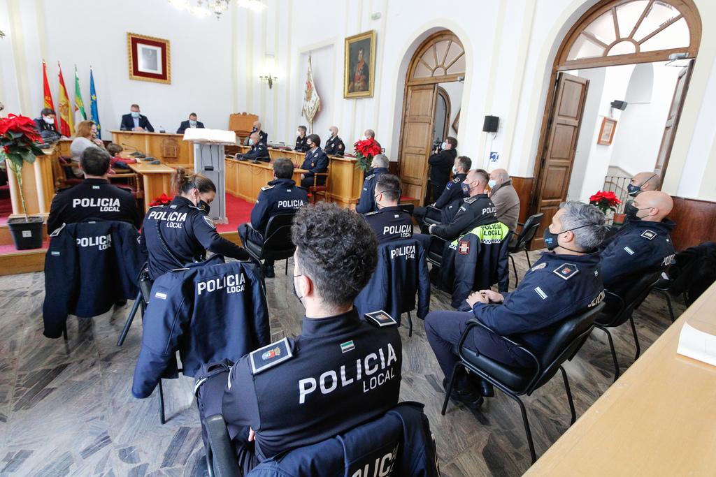 """El alcalde se muestra """"orgulloso"""" de la Policía de Mérida a la que considera la mejor de Extremadura"""