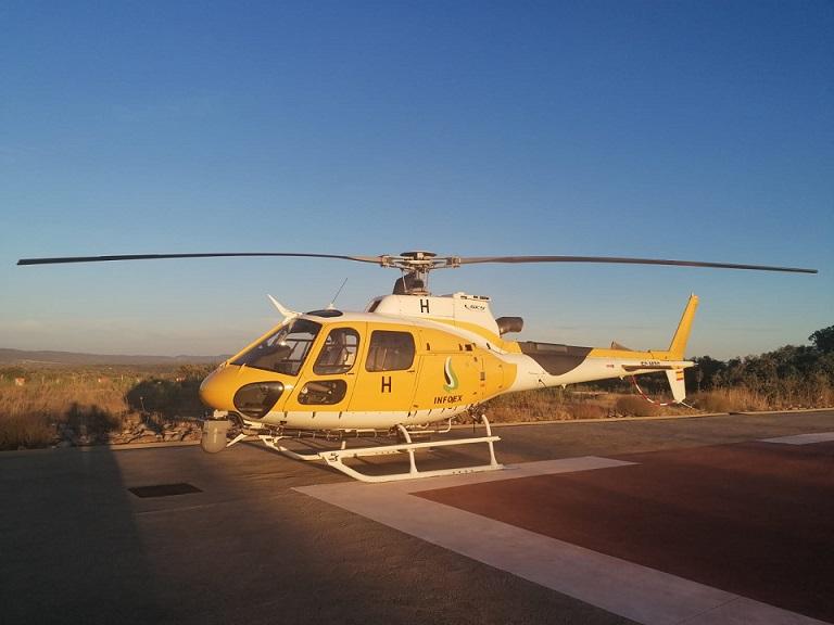 Extremadura tendrá un helicóptero que captará imágenes del estado real de los incendios