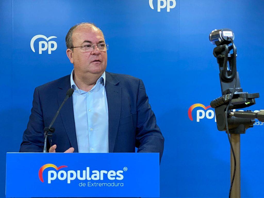 """Monago: """"Vara no puede estar escondido en el momento más crítico de Extremadura"""""""