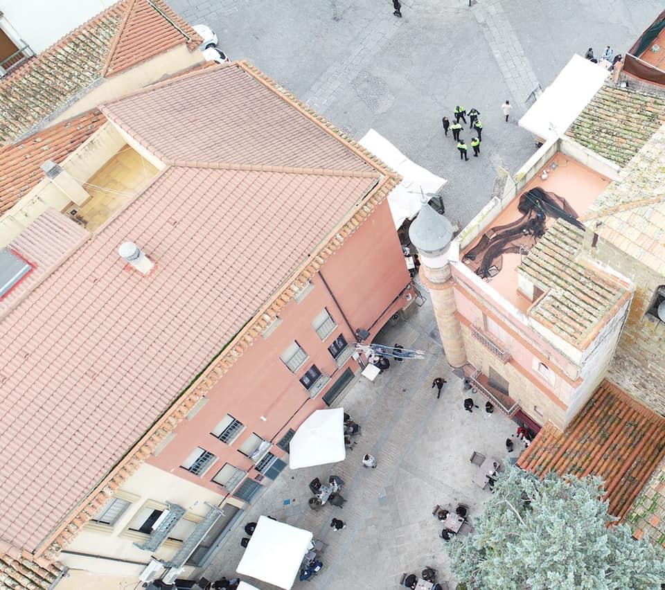 La Policía Local de Plasencia vigila la ciudad desde el aire en el período navideño