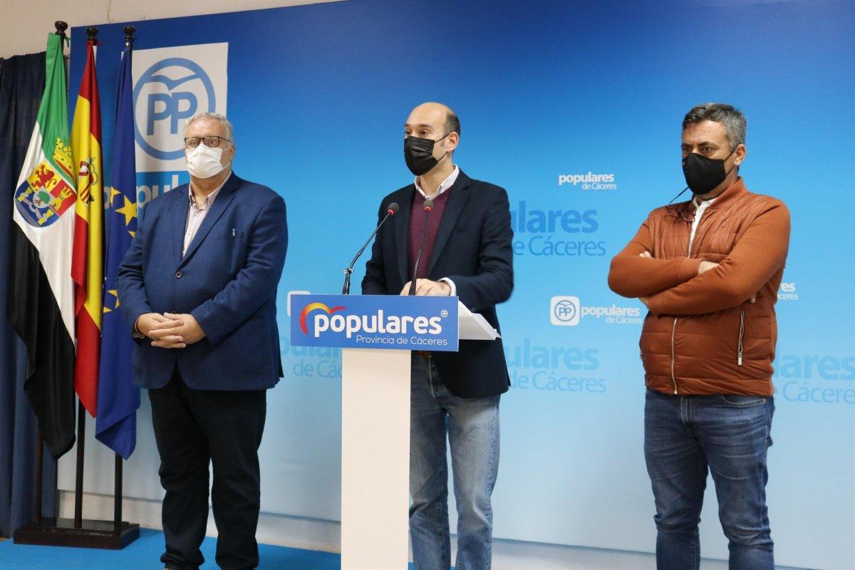 El PP pide a la Diputación de Cáceres 5 millones para autónomos y ayuntamientos