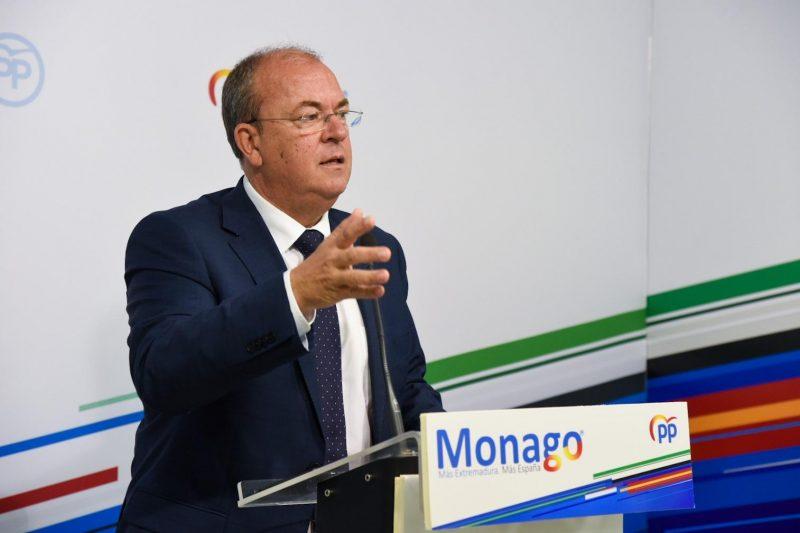 """Monago asegura que Pedro Sánchez """"no va a subir los impuestos a los ricos, sino a los curritos"""""""