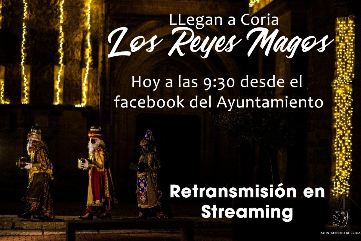 Los Reyes Magos llegan a Coria y los niños pueden verlos en directo
