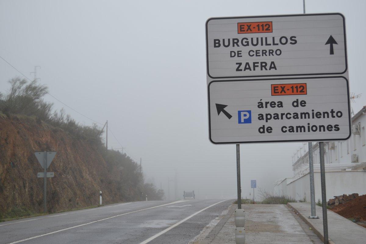 Las carreteras EX-101 y EX-112 entre Zafra y Jerez de los Caballeros serán una vía de alta capacidad