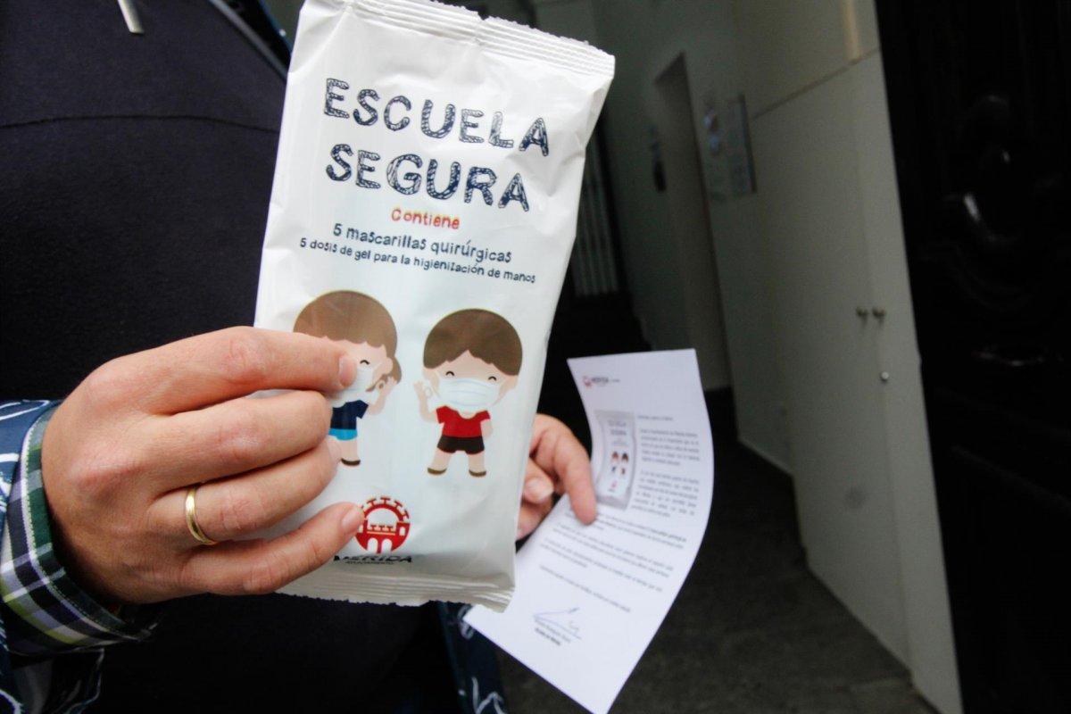 Mérida repartirá más de 320.000 mascarillas en centros escolares