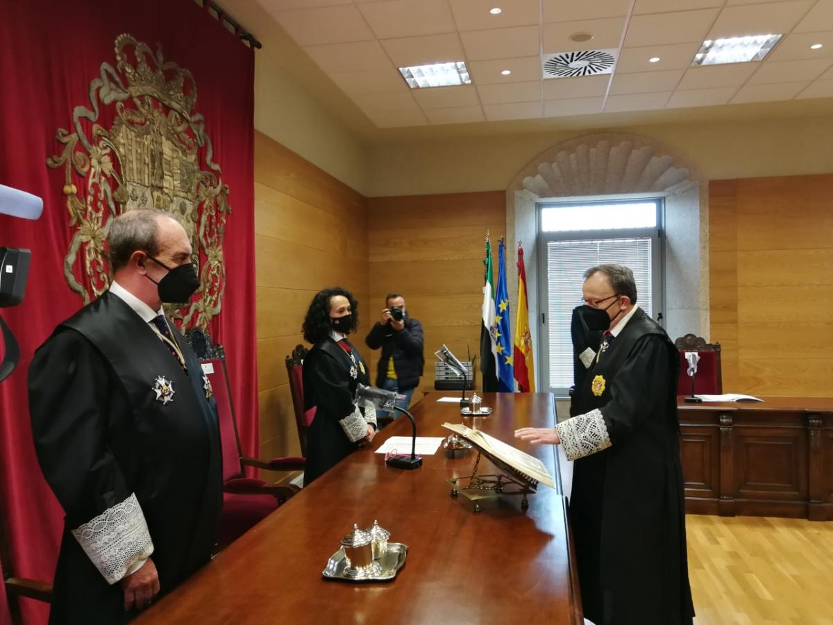 Toma posesión el nuevo presidente de la Audiencia Provincial de Cáceres, Joaquín González Casso