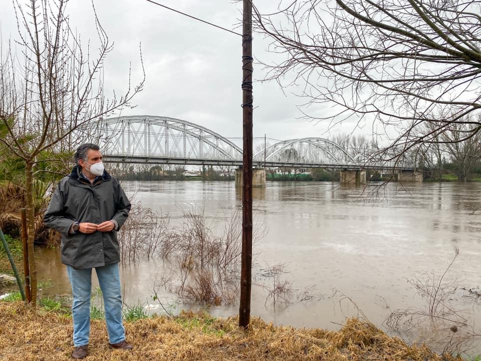 Prealerta en Coria por riesgo de inundaciones en la zona del río Alagón