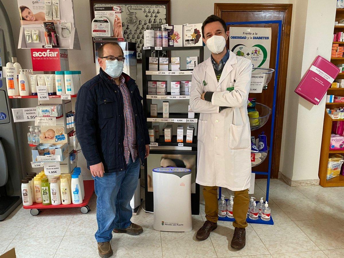 Perales del Puerto adquiere filtros HEPA para ventilar sus establecimientos comerciales