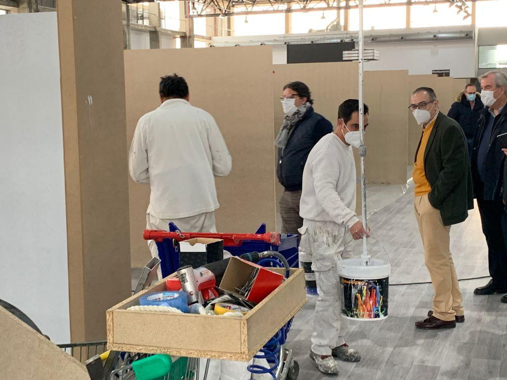 El hospital de campaña de Badajoz ya está listo para ser ocupado por pacientes con Covid