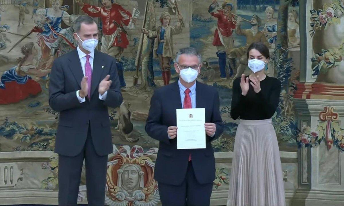 El alcalde de Don Benito recoge el Premio Nacional de Deporte en el Palacio Real de El Pardo