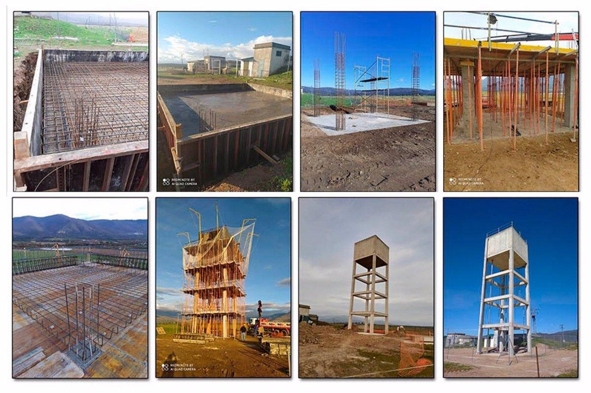 La Diputación de Cáceres construye un nuevo depósito de abastecimiento de agua en La Granja