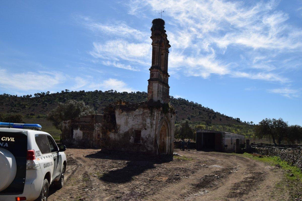 Destruyen gran parte de una ermita de origen visigodo ubicada en una finca privada de Jerez