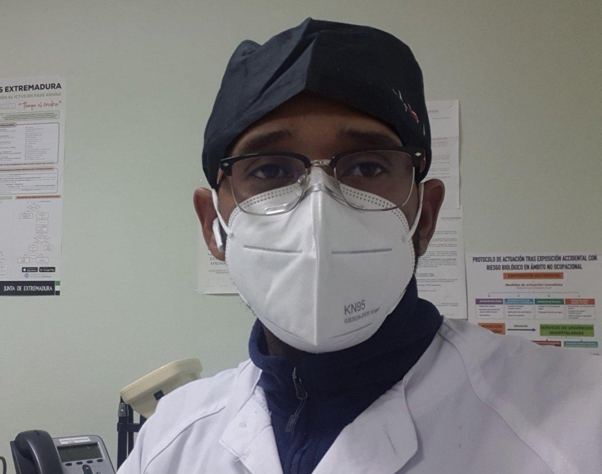 Wendy Jorge Rodríguez, el médico de Hoyos que se enfrentó al primer contagio de coronavirus en Extremadura