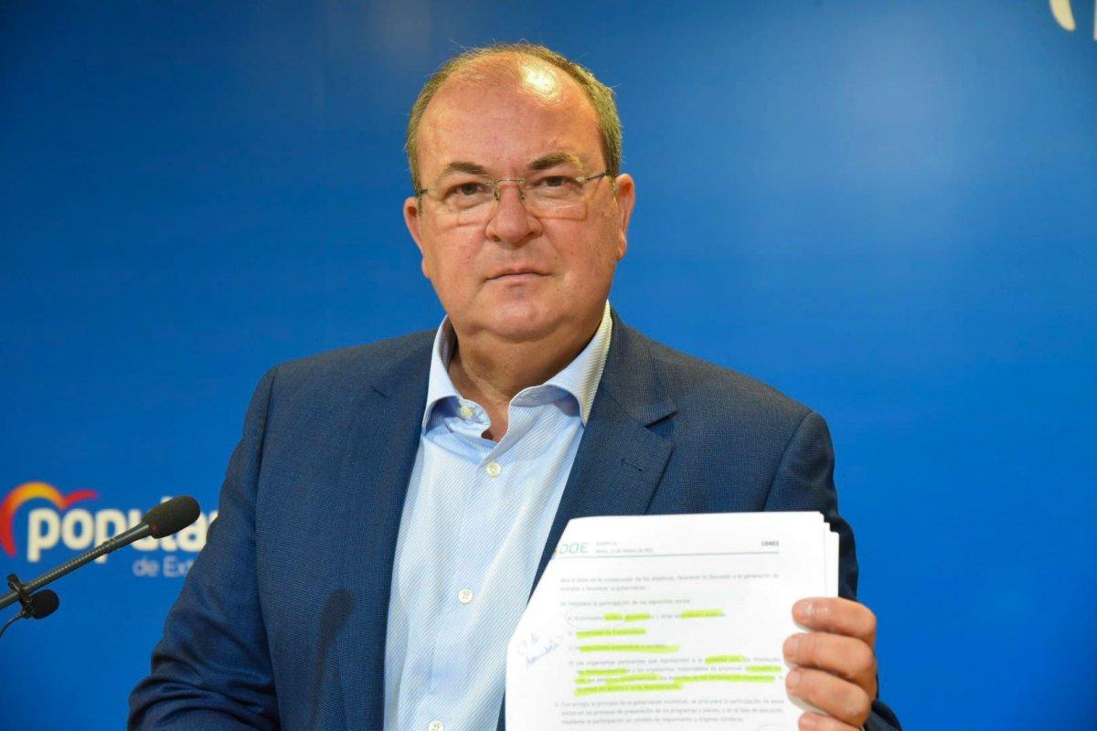 Monago aboga por una autoridad independiente para la gestión del Fondo Recuperación