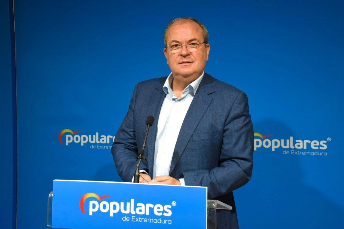 Monago asegura que Sánchez reparte los fondos Covid beneficiando a los nacionalistas
