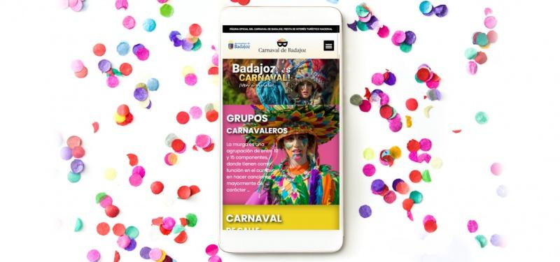 El ayuntamiento presenta la nueva página web oficial del Carnaval de Badajoz