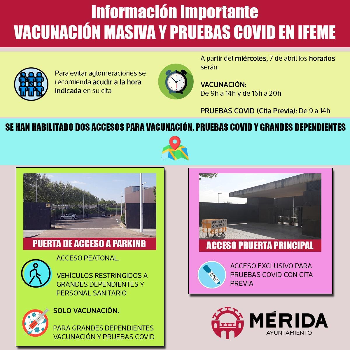 El ayuntamiento colabora con el SES en la organización de IFEME para la campaña de vacunación masiva