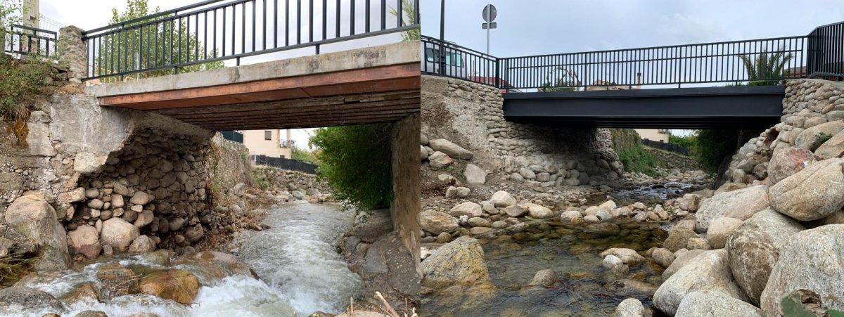 Reparado el puente de Gargantilla que dañó la crecida de un arroyo en octubre de 2020