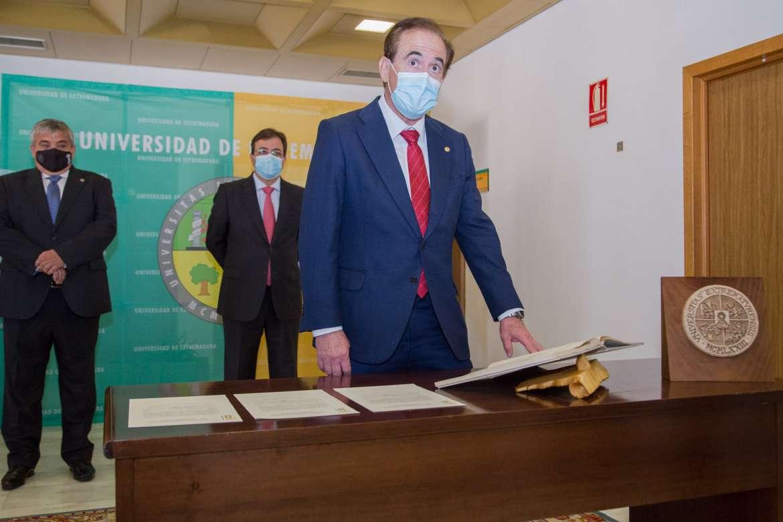 El presidente de Mapfre, Antonio Huertas, estará al frente del Consejo Social de la Universidad de Extremadura