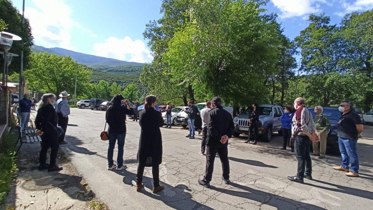 El sector turístico del Valle del Jerte protesta para reclamar políticas que frenen la crisis del sector