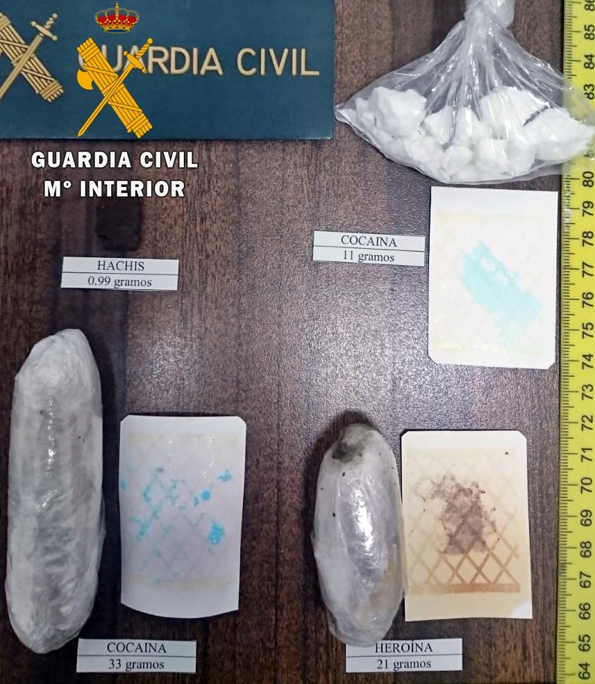Detenidos tres vecinos de la localidad pacense de Llerena por tráfico de drogas