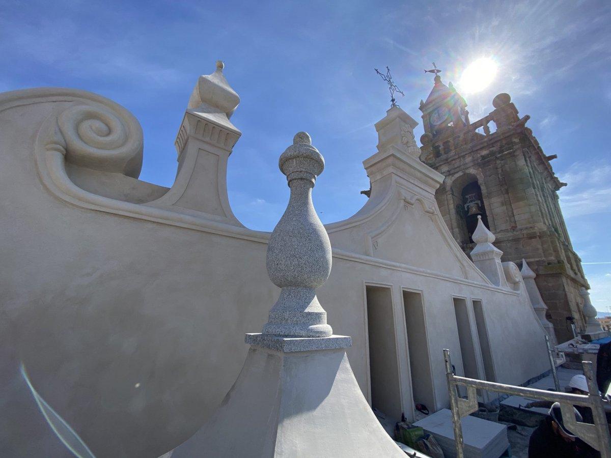 Al descubierto los trabajos de restauración de la Iglesia de Nuestra Señora de la Asunción de Villanueva