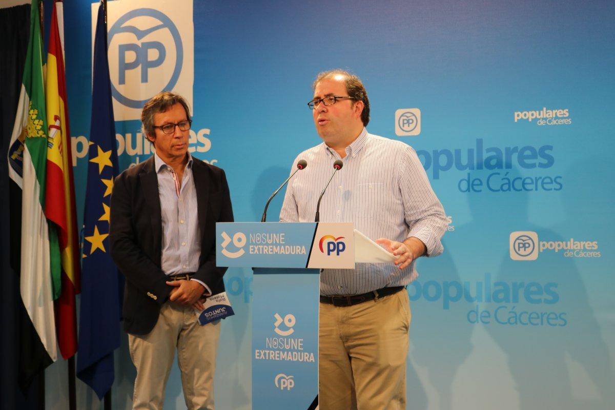 """El diputado cacereño Alberto Casero asegura que """"la victoria del PP en Madrid es el principio del cambio en España"""""""