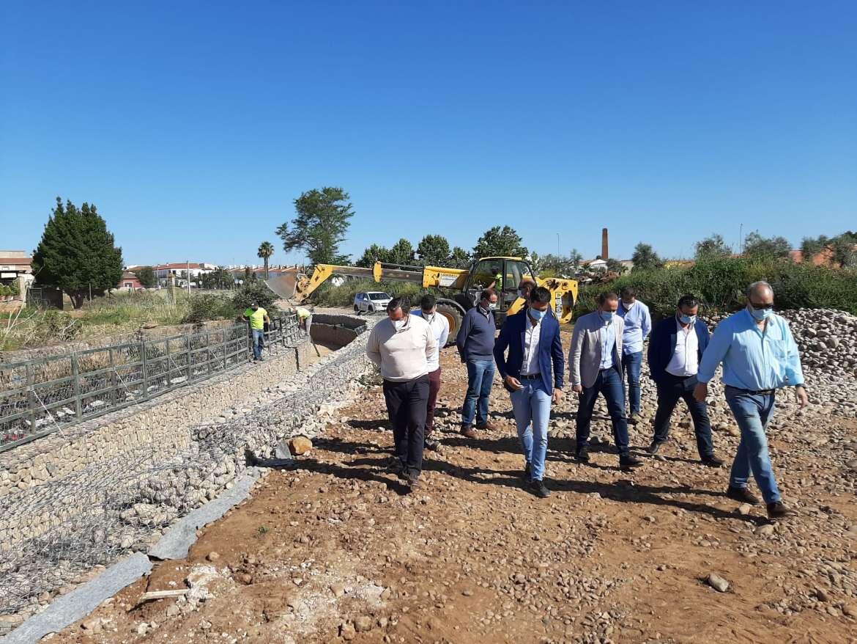 La Junta invierte más de 600.000 euros en las obras de encauzamiento de un arroyo en Valverde