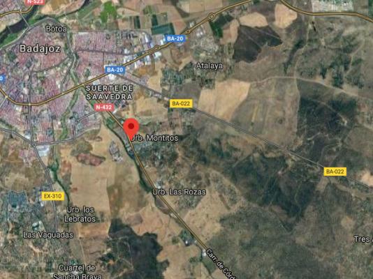 Seis personas resultan heridas en un accidente múltiple registrado en Badajoz