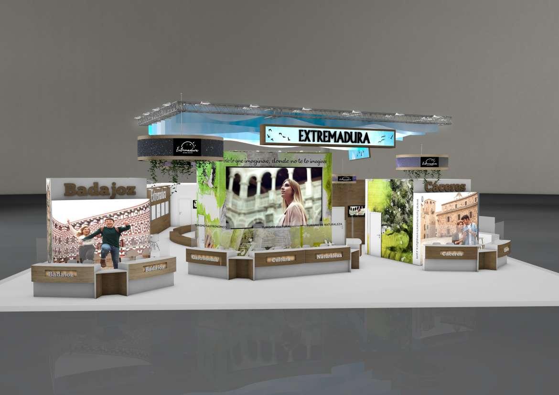 El estand de Extremadura en FITUR tendrá 807 metros cuadrados y costará 258.000 euros