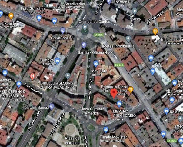 Un conductor se da a la fuga tras atropellar a un hombre en Cáceres