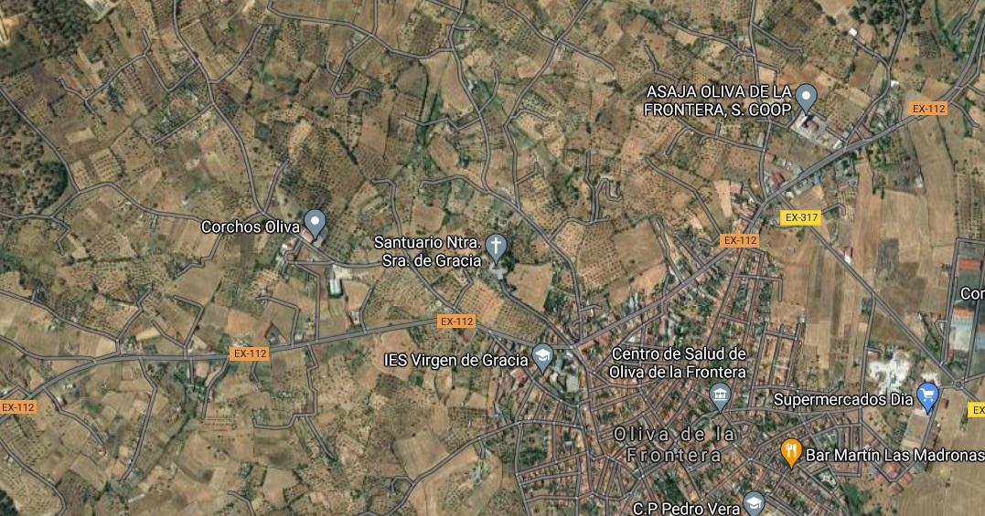 Heridas cinco personas en un accidente de tráfico en Oliva de la Frontera