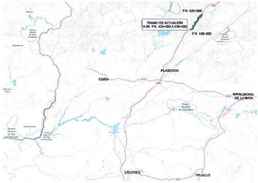 Adjudicadas por 5,28 millones de euros las obras de la A-66 a su paso por Aldenueva del Camino