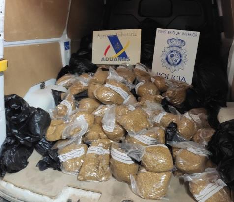 Intervenidos 500 kilos de picadura de tabaco ilegal en Badajoz