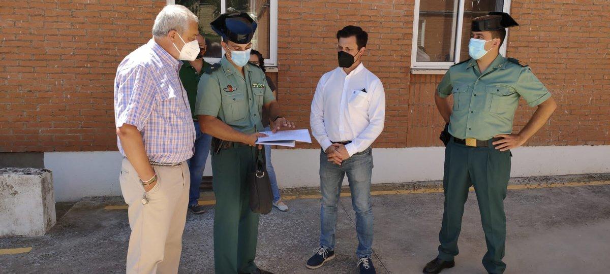 La Diputación de Cáceres invierte alrededor de 50.000 euros en las reformas del cuartel de la Guardia Civil de Coria