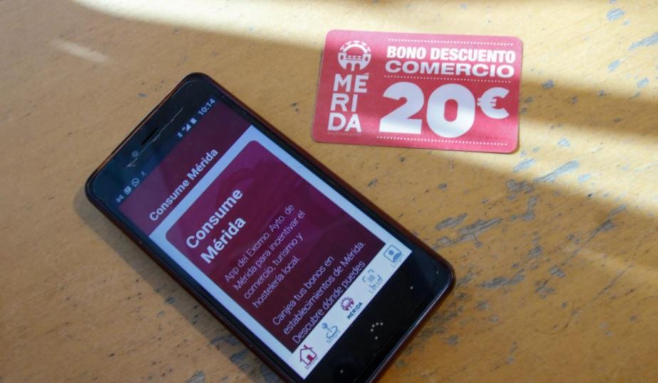 Mérida inicia una nueva entrega de bonos al consumo para hostelería, comercio y turismo