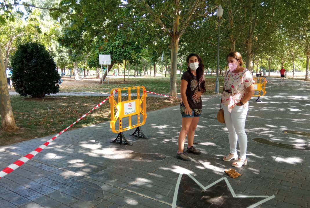 Mérida inaugura en el parque de las Siete Sillas dos circuitos urbanos de psicomotricidad