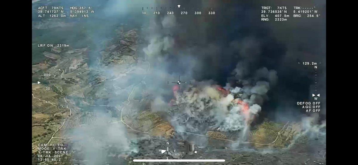 Última hora: Medios aéreos y terrestres tratan de sofocar un incendio de peligrosidad 1 en Peraleda de San Román