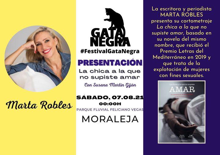 """La periodista Marta Robles presentará en Moraleja su obra """"La chica a la que no supiste amar"""""""