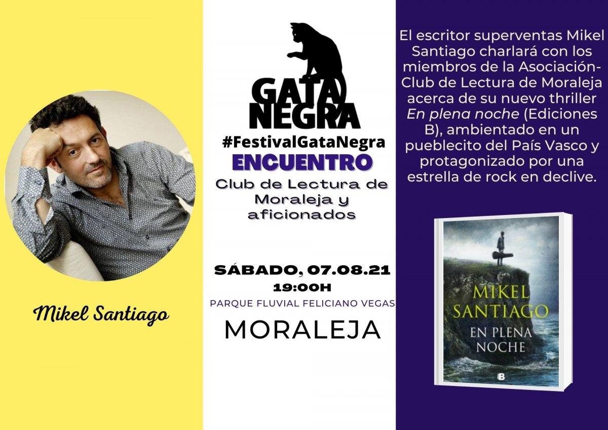 """El escritor Mikel Santiago estará el 7 de agosto en Moraleja para participar en el Festival """"Gata Negra"""""""
