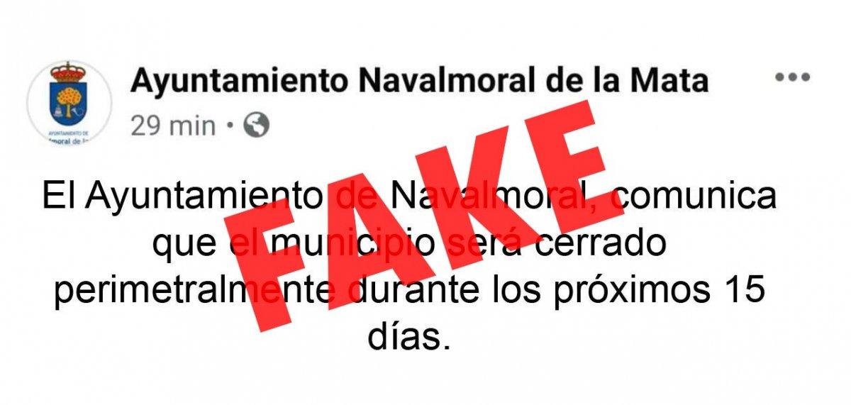 Navalmoral desmiente el bulo sobre el cierre perimetral y lo denuncia a la Guardia Civil