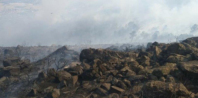 El Infoex estabiliza y desactiva el nivel 1 de peligrosidad en el incendio de Casas de Millán
