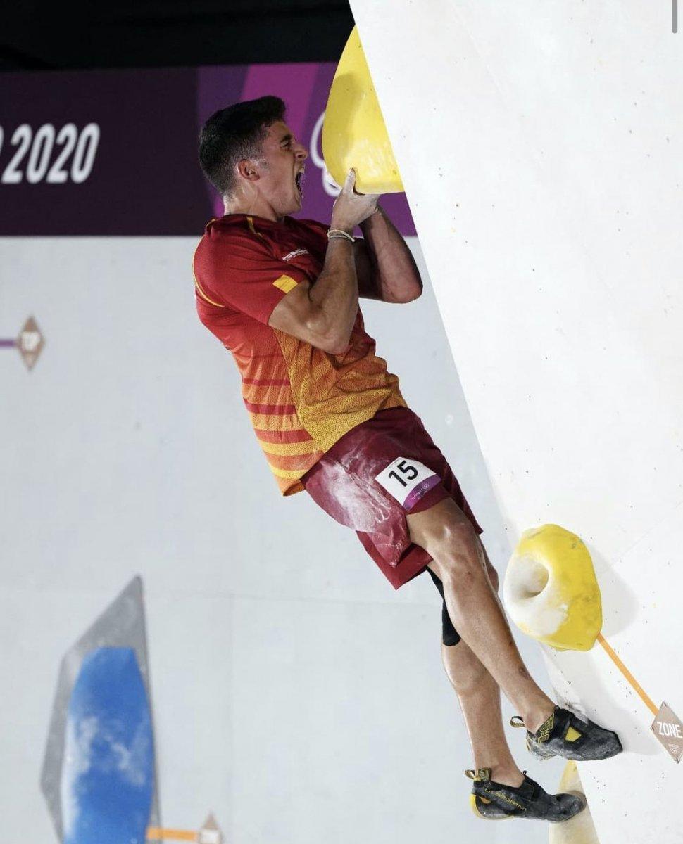 El cacereño Alberto Ginés consigue el primer oro olímpico en escalada