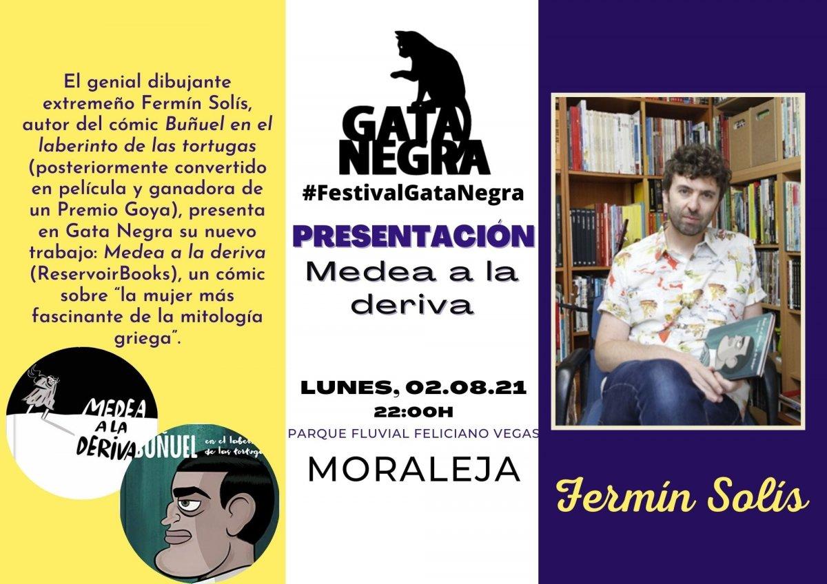 El escritor y dibujante Fermín Solís presentará en el festival 'Gata Negra' su último cómic