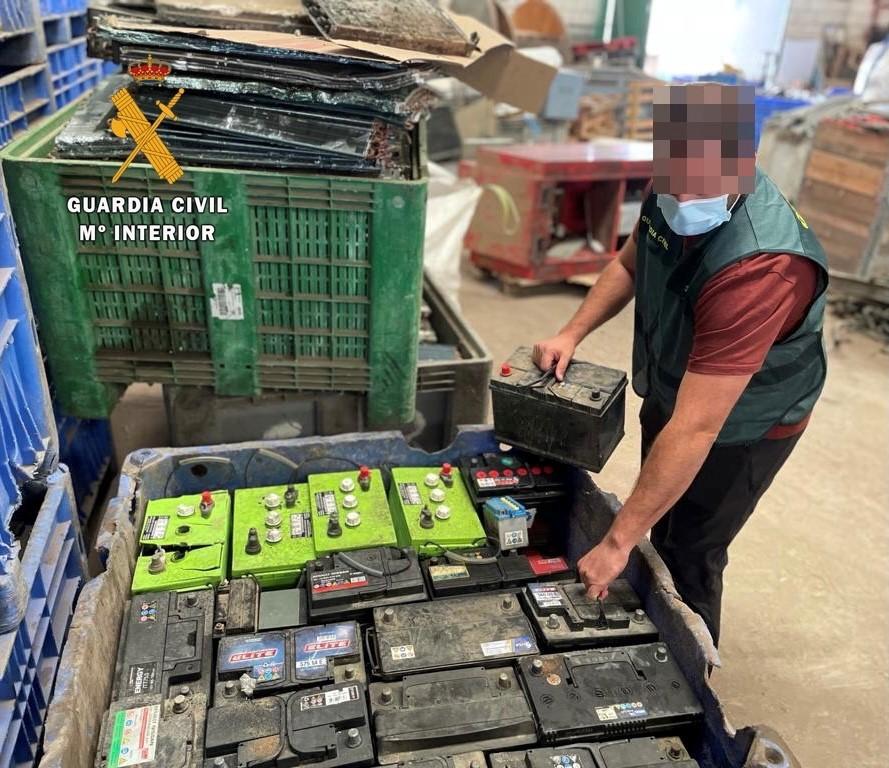 Detenido un vecino de Tiétar por robar baterías en fincas del Campo Arañuelo